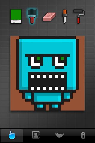 BlockHead canvas screen